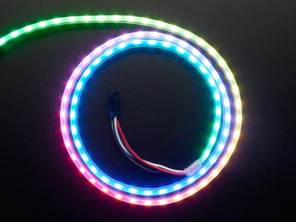 Adafruit NeoPixel LED Side Light Strip (schwarz, 1m, 60 LEDs)