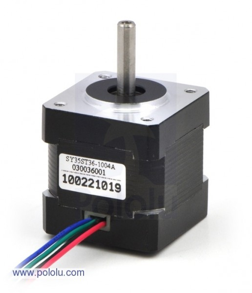 Stepper Motor: Bipolar, 200 Steps/Rev, 35x36mm, 2.7V, 1000mA