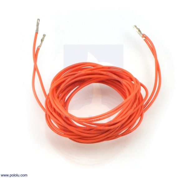 Wires w/ Pre-Crimped Terminals F-F 150cm Orange x2