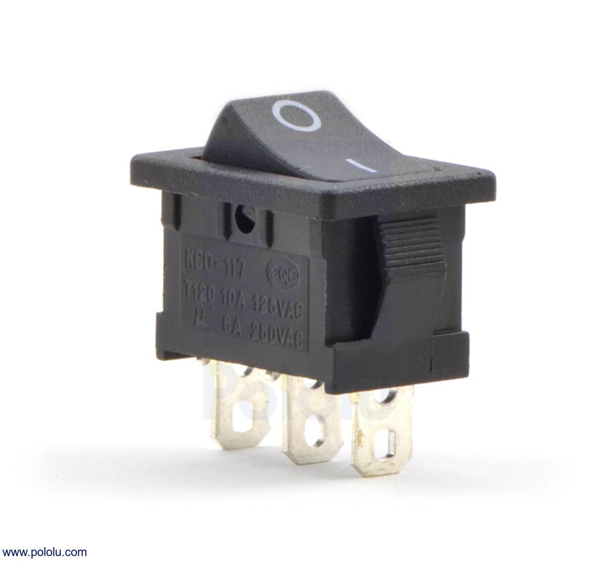 Rocker Switch: 3-Pin, SPDT, 10A | Taster/Schalter | Zubehör | EXP Tech