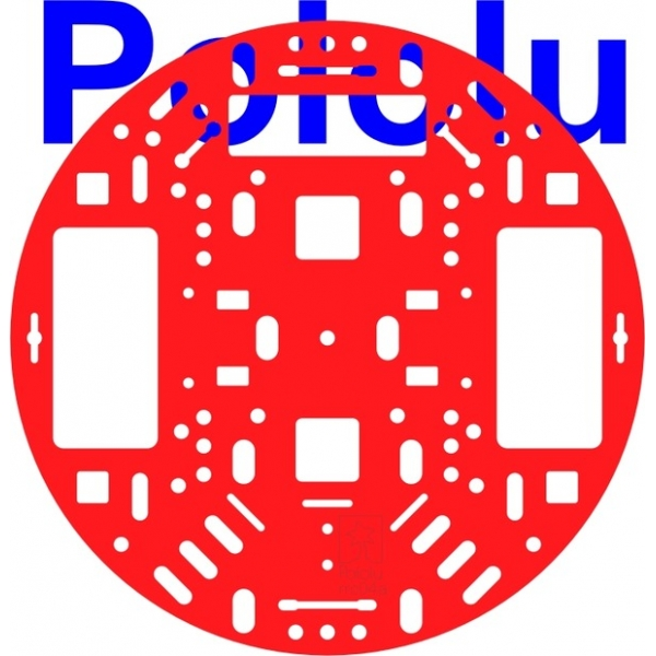 "Pololu 5"" Robot Chassis RRC04A Solid Red"