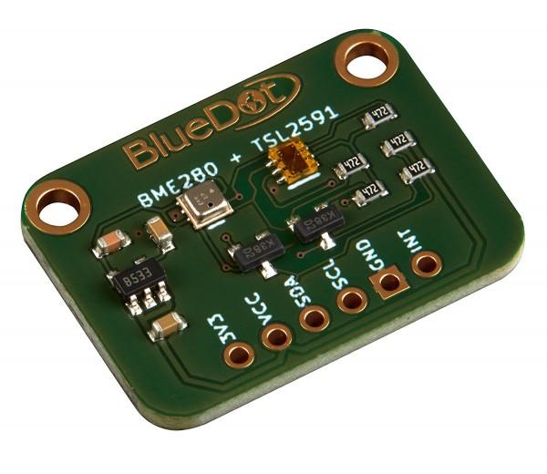 BlueDot BME280 + TSL2591 Breakout (Sensor für Licht, Temperatur, Feuchtigkeit, Druck, Höhe)