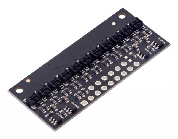 QTRX-HD-11A Reflectance Sensor Array: 11-Channel, 4mm Pitch, Analog Output, Low Current