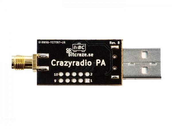 Crazyradio PA - long range 2.4Ghz USB radio dongle with antenna