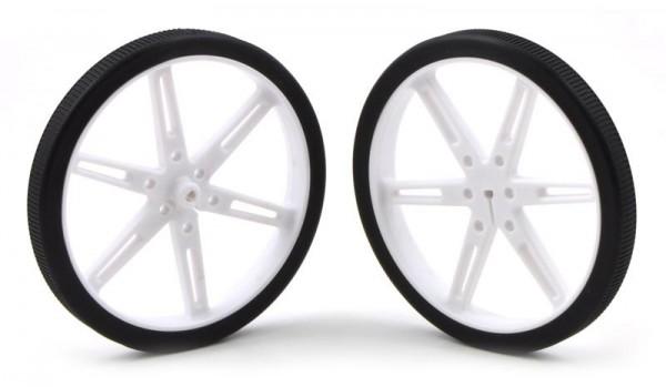 Pololu Wheel 80x10mm Pair - White