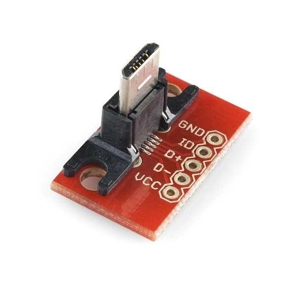 Sparkfun USB MicroB Plug Breakout Board