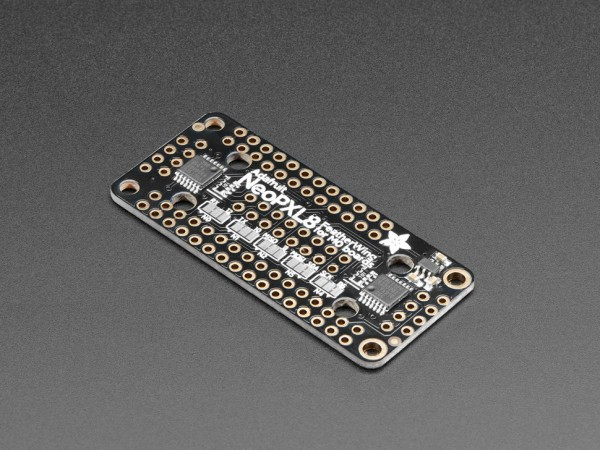 Adafruit NeoPXL8 FeatherWing for Feather M0 - 8 x DMA NeoPixels