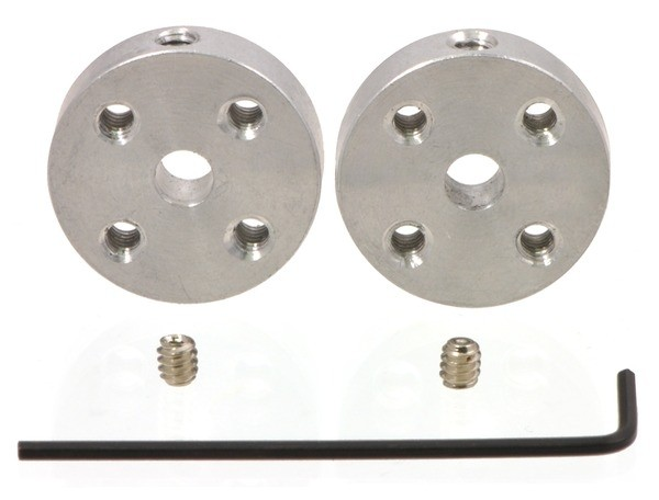 Pololu Universal Aluminum Mounting Hub for 4mm Shaft, M3 Holes (2-Pack)
