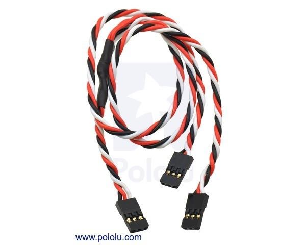 Twisted Servo Y Splitter Cable 30cm Female - 2x Female
