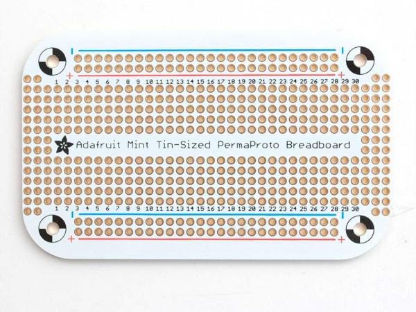 Adafruit Perma-Proto Mint Tin Size Breadboard PCB