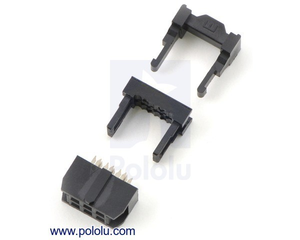 "IDC-Socket: 2x3-Pin, 0.100"" (2.54 mm) Female"