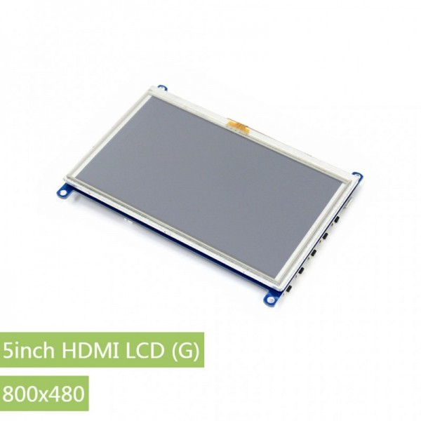Waveshare 5 Inch HDMI LCD (G) resistives Touch-Display 800x480