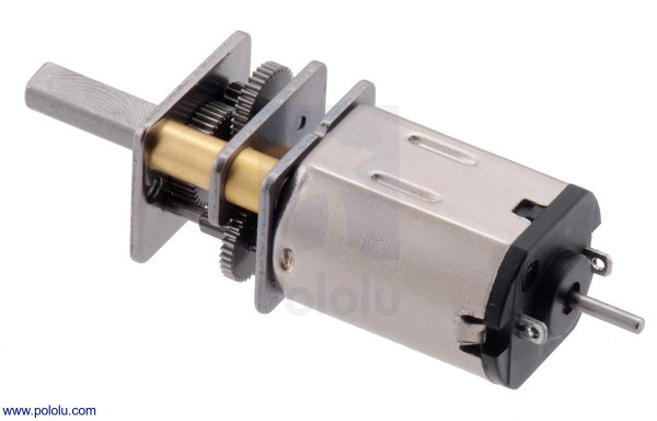 380:1 Micro Metal Gearmotor LP 6V with Extended Motor Shaft