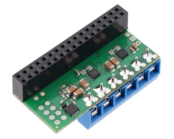 Pololu Dual MAX14870 Motor Driver for Raspberry Pi (Assembled)