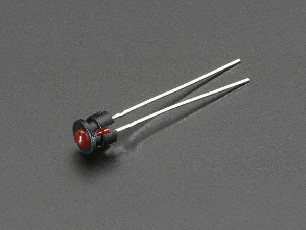 3mm Plastic Bevel LED Holder - Pack of 5