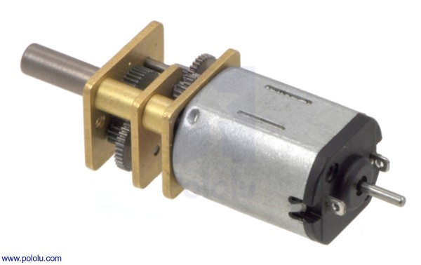 15:1 Micro Metal Gearmotor MP 6V with Extended Motor Shaft