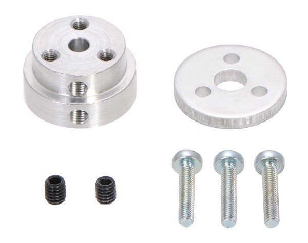 Pololu Aluminum Scooter Wheel Adapter for 4mm Shaft