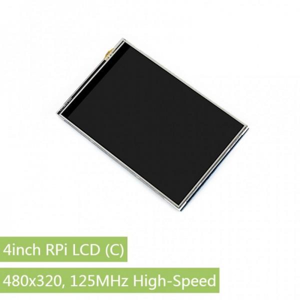 "4"" Raspberry Pi LCD (C), 480x320, 125MHz High-Speed SPI"