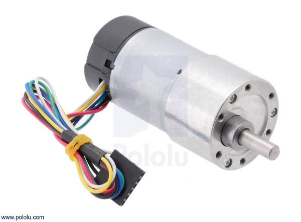 50:1 Metall Getriebemotor 37Dx54L mm mit 64 CPR Encoder