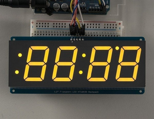 "Adafruit 1.2"" 4-Digit 7-Segment Display w/I2C Backpack - Gelb"