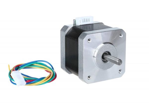 Stepper motor Nema 17 (bipolar, 200 steps, 12 V DC, 0.4 A) - 17HS3404L23P1-X1