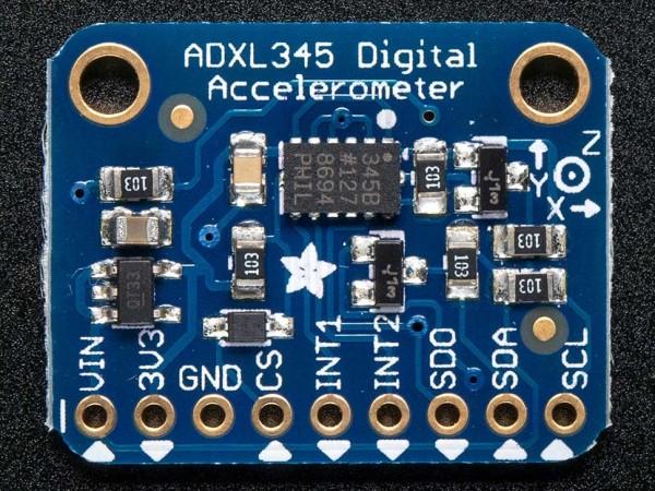 Adafruit ADXL345 - Triple-Axis Accelerometer (+-2g/4g/8g/16g) w/ I2C/SPI