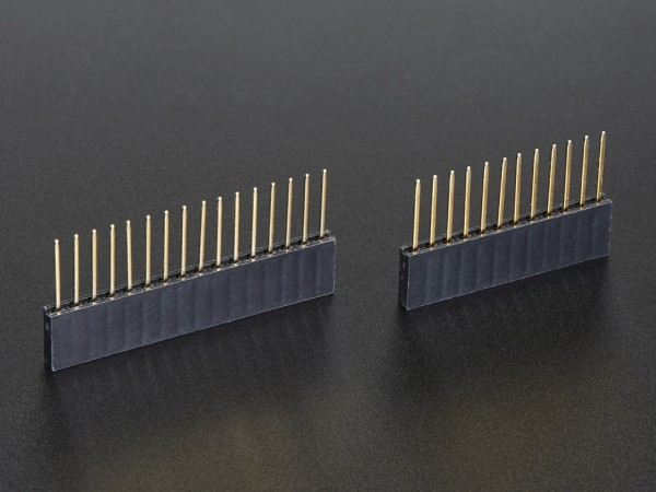 Feather Stacking Headers - 12-pin and 16-pin female headers