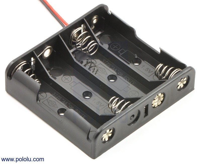 4 aa battery holder batteriehalter batterien akkus zubeh r exp tech. Black Bedroom Furniture Sets. Home Design Ideas