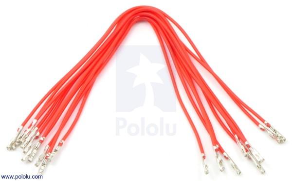 Wires w/ Pre-Crimped Terminals F-F 15cm Red x10