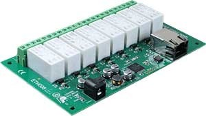 ETH008 - 16Amp 8 Channel Relay Module