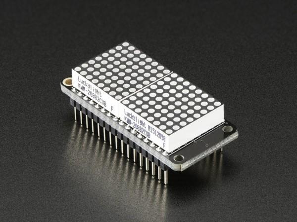 """Adafruit 0.8"""" 8x16 LED Matrix FeatherWing Display Kit - Blue"""