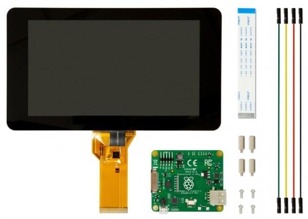 7″-Touch-Screen-Display für Raspberry Pi – mit 10 Finger-Multi-Touch