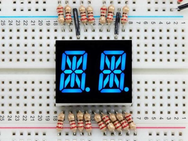 "Dual Alphanumeric Display - Blue 0.54"" Digit Height - Pack of 2"