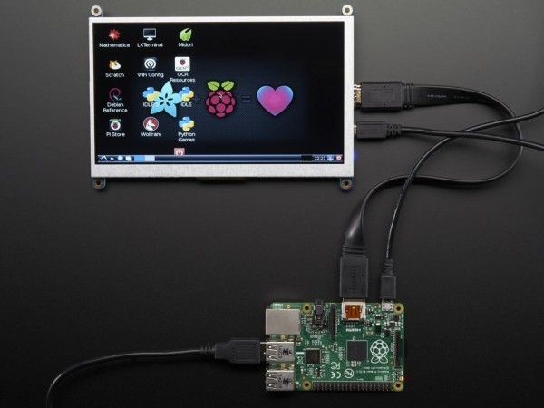 """Adafruit HDMI 7"""" 800x480 Display Backpack - Without Touch"""