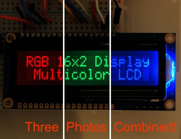 Adafruit RGB backlight negative LCD 16x2 + extras - RGB on black