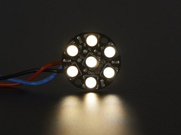 Adafruit NeoPixel Jewel - 7 x 5050 RGBW LED w/ Integrated Drivers - Natural White - ~4500