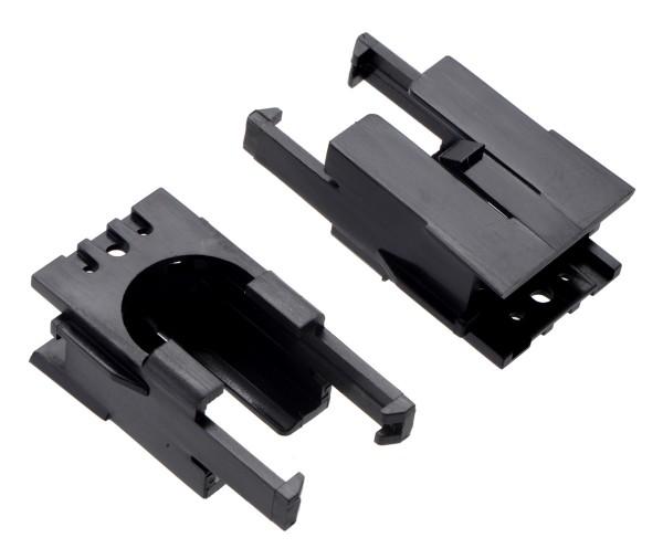 Romi Chassis Motor Clip Pair - Black
