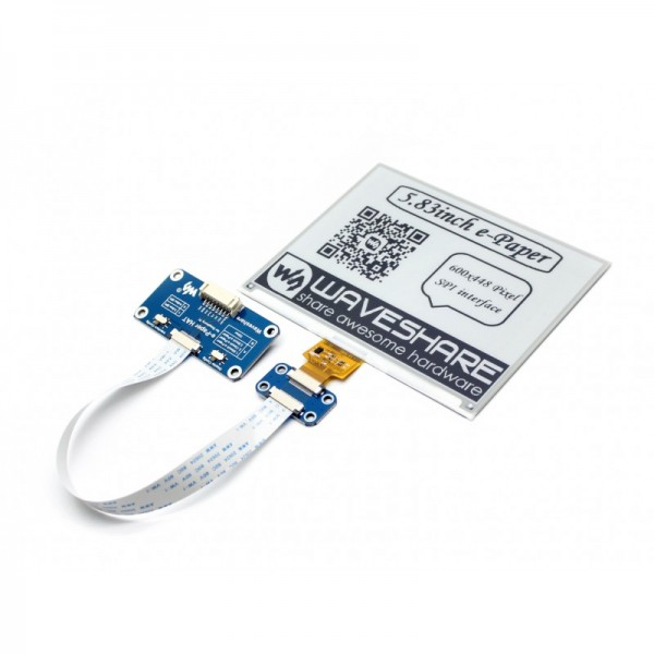 Waveshare 5.83 Inch E-Ink Display HAT