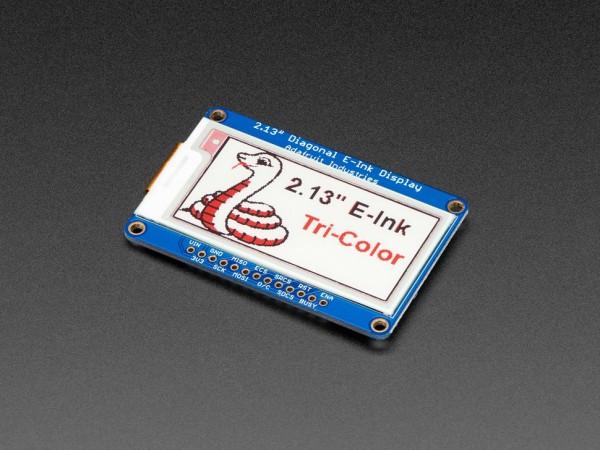 """Adafruit 2.13"""" Tri-Color eInk / ePaper Display mit SRAM (rot, schwarz, weiß)"""