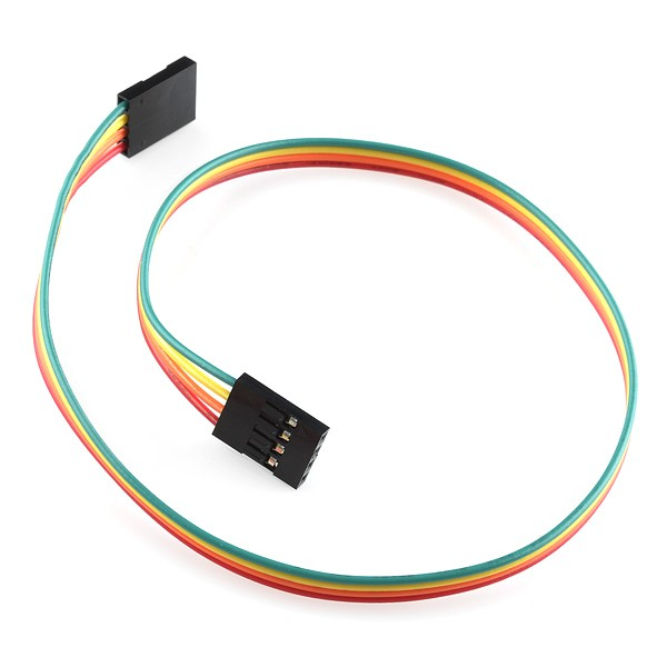 "Jumper Wire - 0.1"", 4-pin, 30cm"