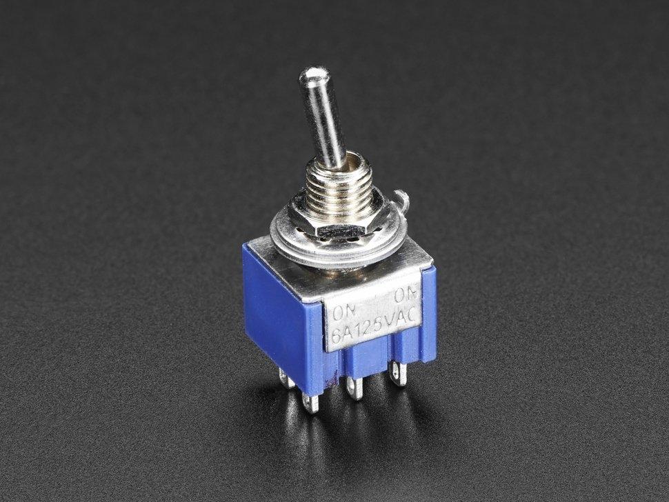 Mini Panel Mount DPDT Toggle Switch | Taster/Schalter | Zubehör ...
