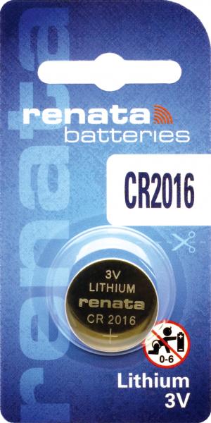 renata CR2016 3V Lithium Knopfzelle