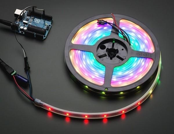Adafruit NeoPixel Digital RGB LED Strip - Black 30 LED - BLACK 5m