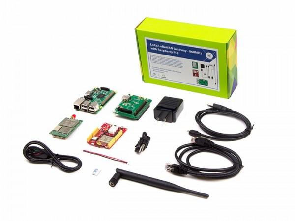 LoRa LoRaWAN Gateway 868MHz Kit w/ Raspberry Pi 3