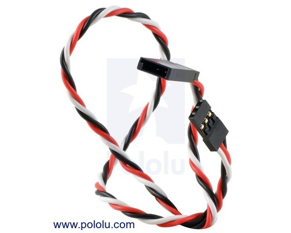 Twisted Servo Extension Cable 30cm Male - Female