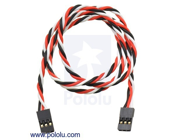 Twisted Servo Extension Cable 60cm Female - Female