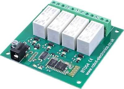 BT004 - 16Amp 4 Channel Relay Module