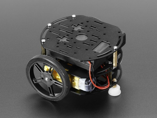 Adafruit Mini 3-Layer Round Robot Chassis Kit - 2WD with DC Motors