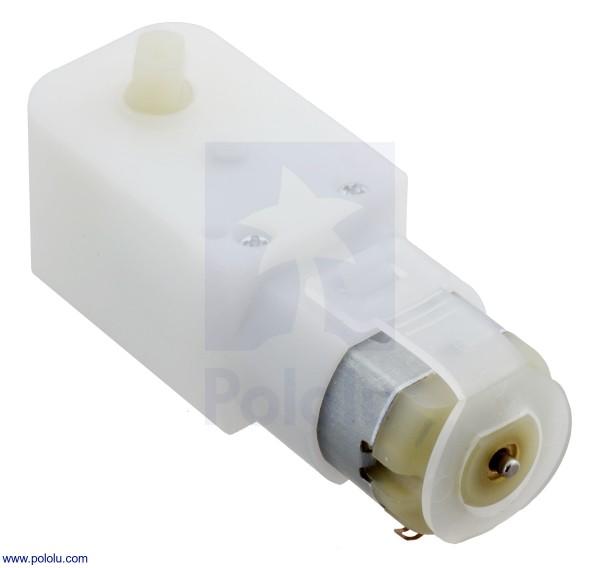 120:1 Plastic Gearmotor, 90° Output
