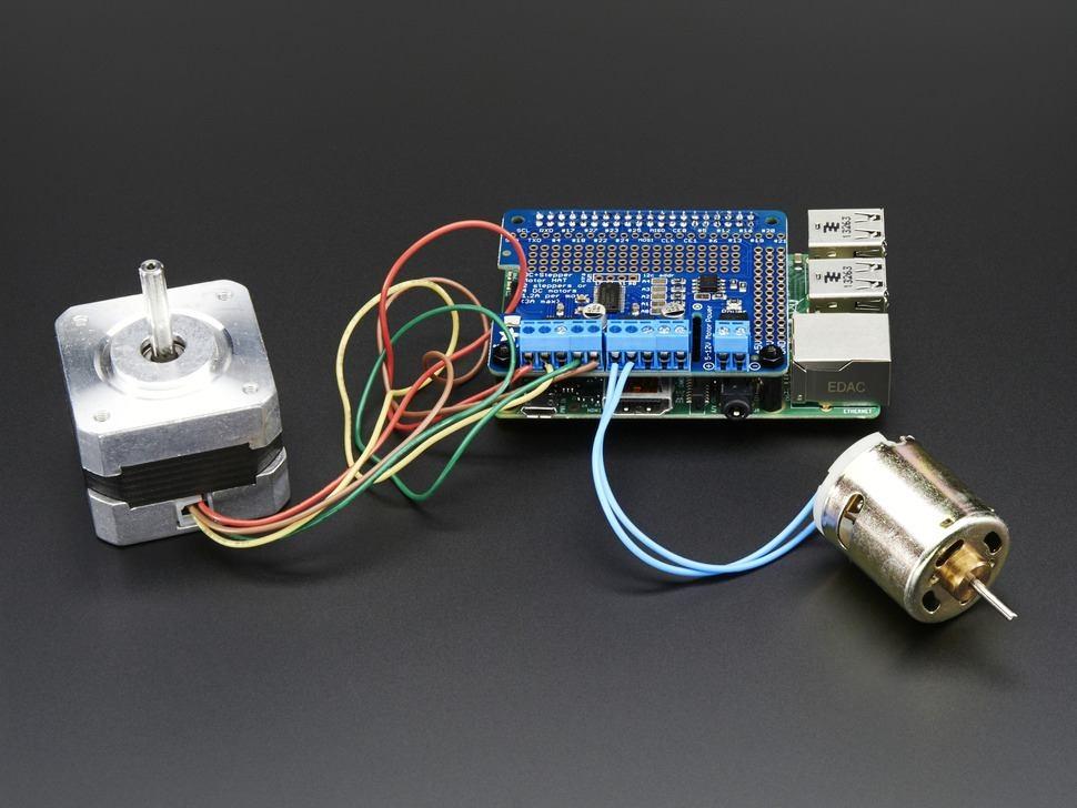 Adafruit DC & Stepper Motor HAT für Raspberry Pi - Mini Kit ...